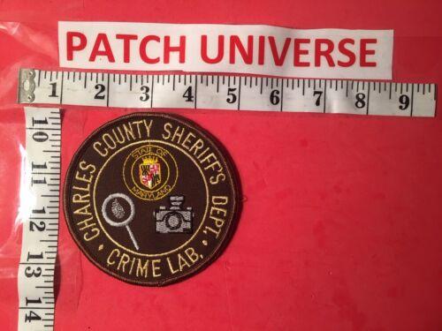 VINTAGE CHARLES COUNTY MD SHERIFF CRIME LAB  SHOULDER  PATCH Q100