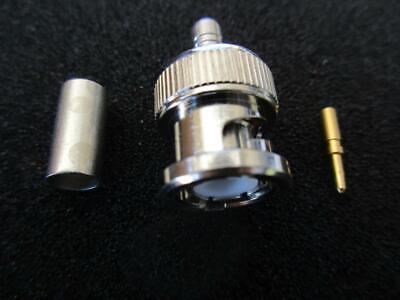 Lot Amphenol Connector 31-320rfx Bnc Male Plug Mil Crimp 50 Rg58141 Nip
