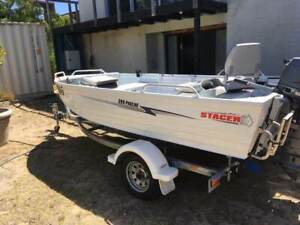 SUIT NEW BUYER! WHITE 399 STACER 399 PROLINE 30 HP 3 CYL YAMAHA