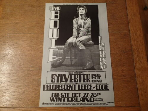 Original Tour Poster-DAVID BOWIE-Winterland, SF/Bill Graham-OCTOBER 27 & 28,1972
