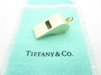 Vintage Tiffany & Co. 14k Yellow Gold Rare Medium Size Whistle Charm Or Pendant