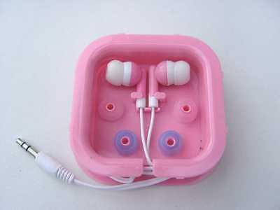 In Ear Stereo Kopfhörer 3,5mm Klinke für Radio/MP3/MP4/iPod rosa/pink neu Mp3 Mp4 Stereo Kopfhörer