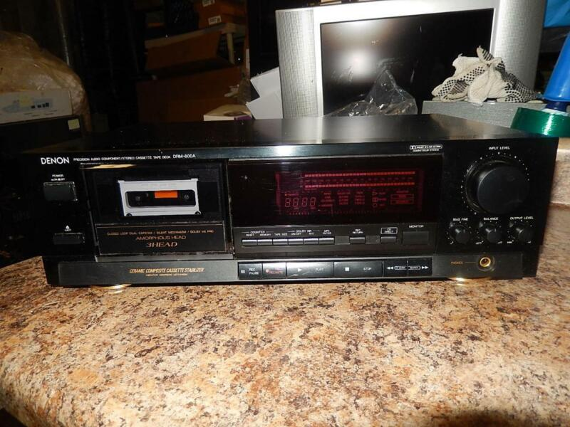 Denon 3-Head Professional Stereo Cassette Tape Deck Model DRM-800A