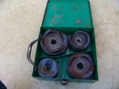 Greenlee 2-12 - 4 Knockout Punch Die Set Complete W Box
