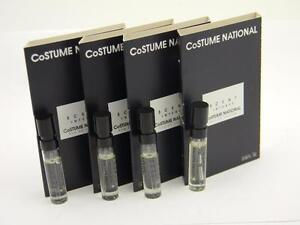 4 x Costume National Scent Intense EDP Vial Sample 0.05 fl oz 1.5ml With Card