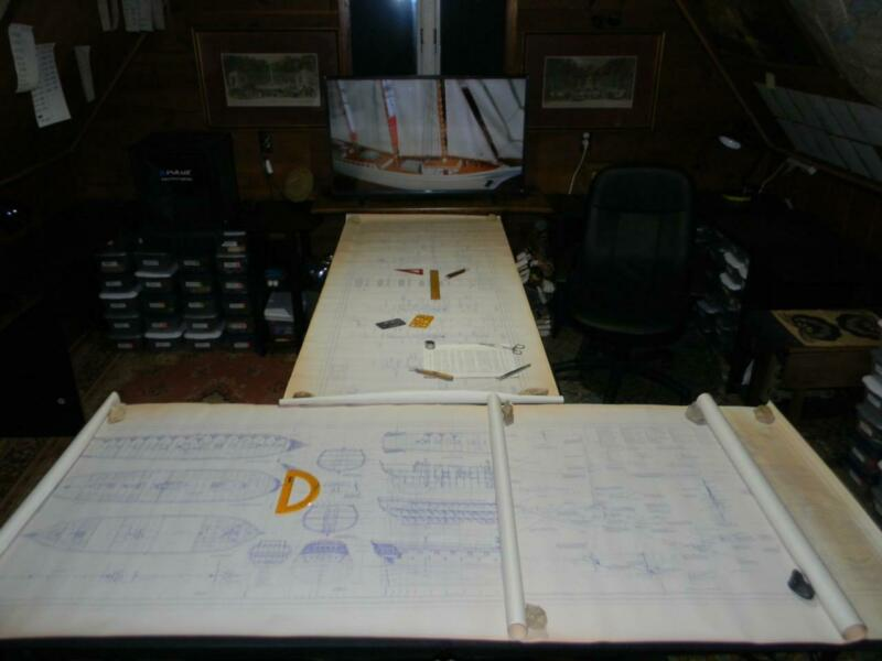 Rare Original Sea Gull Model Ship Plan CONFEDERACY 1778 Unparalleled Detail Sgnd