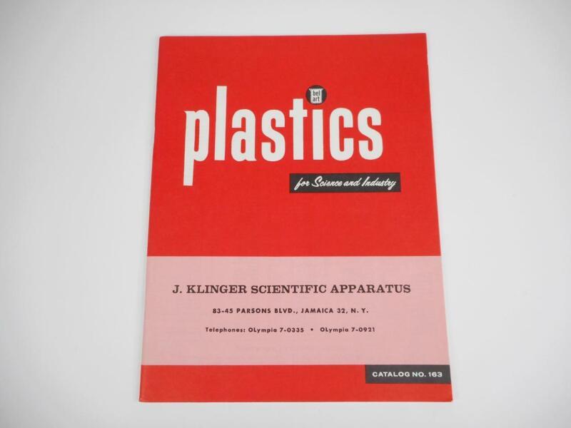 Vtg 1962 KLINGER Scientific Apparatus Company PLASTICS Catalog Science Industry