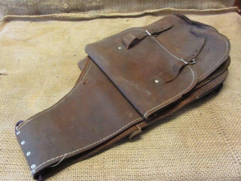 Vintage Ornate Designed Leather Saddle Bags Satchel > Antique Saddles 10127