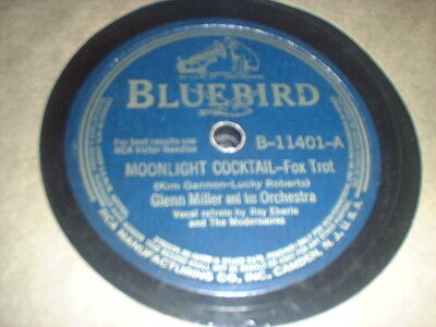 78RPM Bluebird 11401 Glenn Miller, Moonlight Cocktail / Happy in Love clean VV+