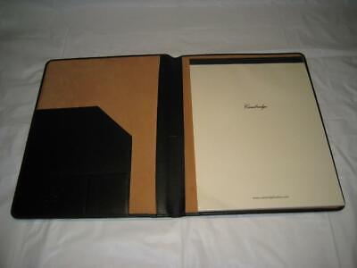 Hp Cambridge Black Leather Senior Portfolio Wcambridge 40 Sheet Legal Pad