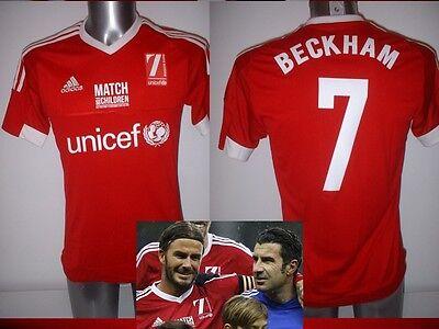 David Beckham UK S Adidas Match for Children Shirt Jersey Soccer Football BNWT