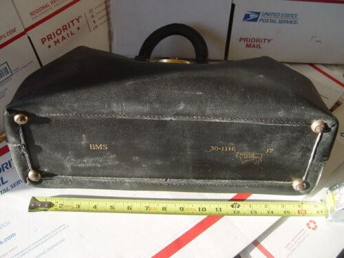 Vintage/Antique Doctor's Physician's Black Leather Medical Bag 15 x 9 x 7