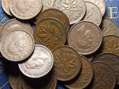 1947 ML CANADIAN SMALL CENTS KING GEORGE VI       BUY ONE OR BUY THEM ALL