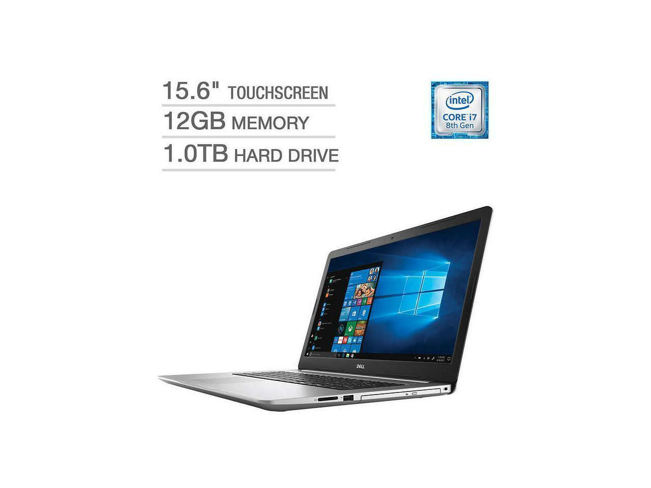 New Dell Inspiron i5570-7814SLV-PUS 15.6'' FHD Touch Laptop i7-8550U 12GB 1TB