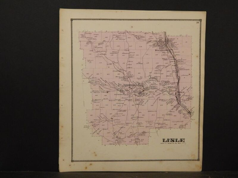 New York, Broome County Map, 1866, Lisle Township, Y5#21