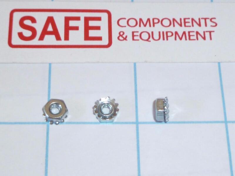 Kep Nut Star Washer 4-40 1/4-Hex QTY-25 Steel Zinc Plate Keps Lock K-Nut C43-12