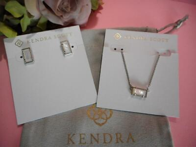 Kendra Scott Set of 2 Pattie Necklace & Paola Earring Ivory Mother of Pearl -