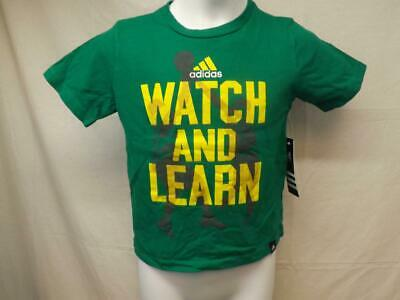 Neu Armbanduhr und Lernen Basketball Adidas Kindergröße 5 Green T-Shirt