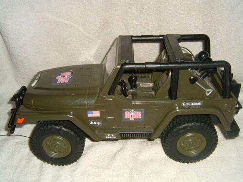 GI Joe Motorized Jeep Wrangler Hasbro 2001 #05243 FunRise Tested And Working