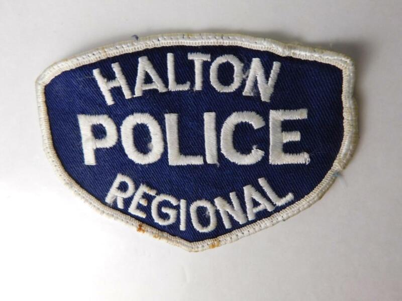 HALTON POLICE VINTAGE PATCH BADGE ONTARIO CITY REGIONAL CANADA COLLECTOR