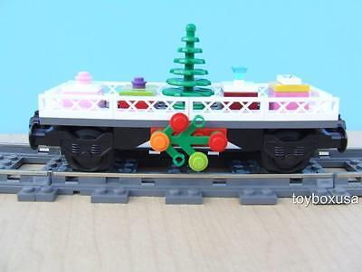 New Lego Christmas Holiday Train Car Built w/ NEW Bricks fits 10173 10254