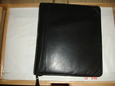 Franklin Quest Leather Planner 7 Gold Ring Binder