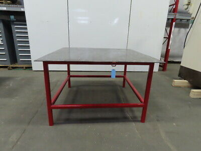 38 Thick Top Steel Fabrication Welding Table Work Bench 60-38x60-14x36-12