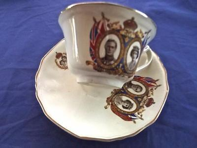 1939 Royal Visit to Canada King George VI Elizabeth Cup & Saucer Alfred Meakin