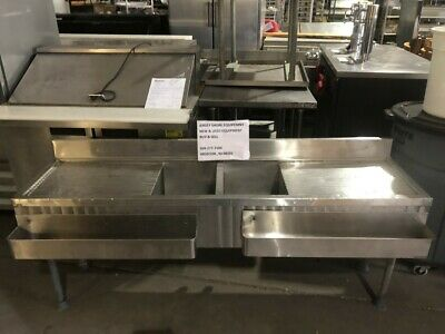 Commercial Ss Bar Sink W Drainboards Speed Racks