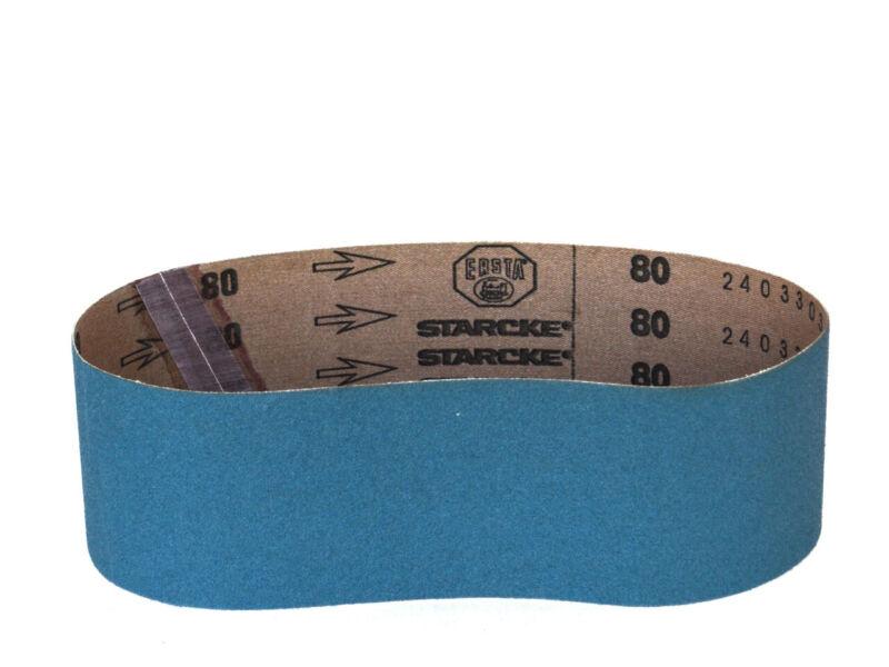 Sanding Belts 3 X 18 German Zirconia Cloth Sander Belts, 8 Pack (80 Grit)