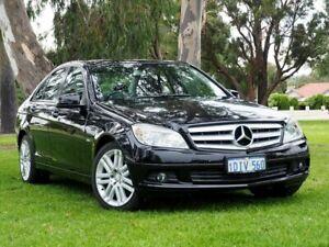 2010 Mercedes-Benz C-Class W204 MY10 C200 CGI Classic Black 5 Speed Sports Automatic Sedan