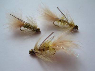 3 EA D16-7 BEAD HEAD CRYSTAL BUGGER RUBBERLEGS (COLORS & SIZES AVAIL), STREAMERS