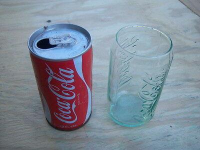 Vintage Coca Cola Can  1975  Plus Free Glass