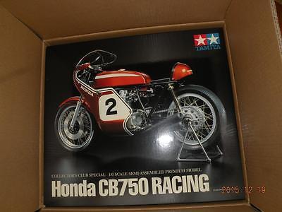 TAMIYA 1/6 HONDA CB750 RACING MOTORCYCLE SEMI-ASSEMBLED PREMIUM BIKE 23210 KIT