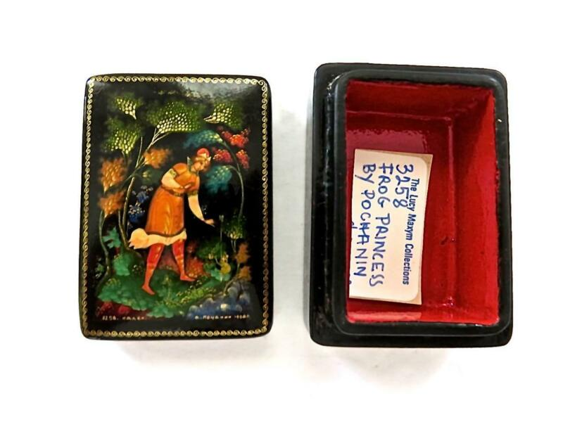 Fine Russian Fairy Tail Lacquer Box The Beautiful Frog Princess by Pochanin