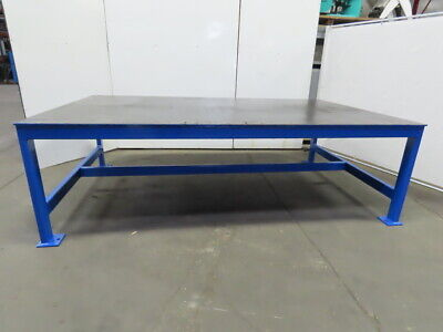 12 Thick Top Steel Fabrication Welding Layout Table Work Bench 120lx73wx37h