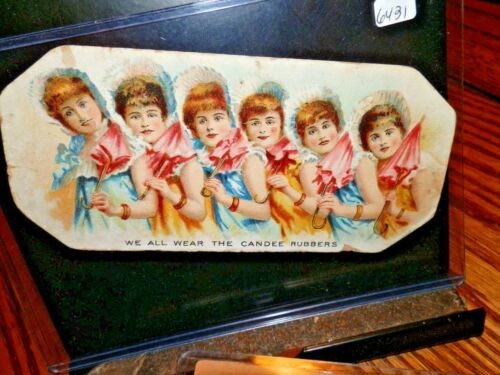 #6431,Candee Rubbers,Victorian Trade Card