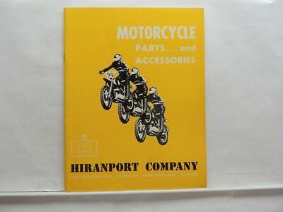 1973 Hiranport Motorcycle Parts And Accessories Book Manual Catalog B6095