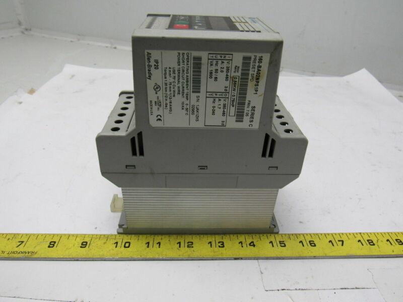 A-B Allen Bradley 160-BA02NPS1P1 Ser. C 3/4Hp Speed Controller Variable Speed