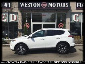 2017 Toyota RAV4 LE*AWD*ALL OPTIONS POSSIBLE!!!*