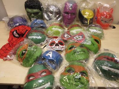 20 SUPERHERO Masks Halloween Dress Up TMNT Wolverine, Ultron, Hulk, Capt America