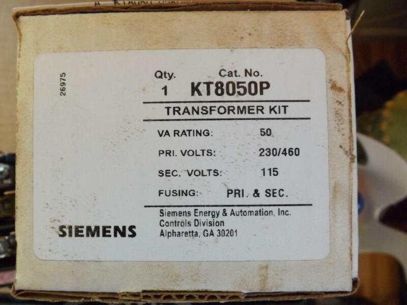 Siemens KT8050P Transformer Kit VA 50 Volts 230/460 Volts 115 Sec. Volt