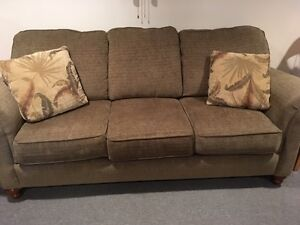 Couch, Two Chairs Matching Set, with Pillows