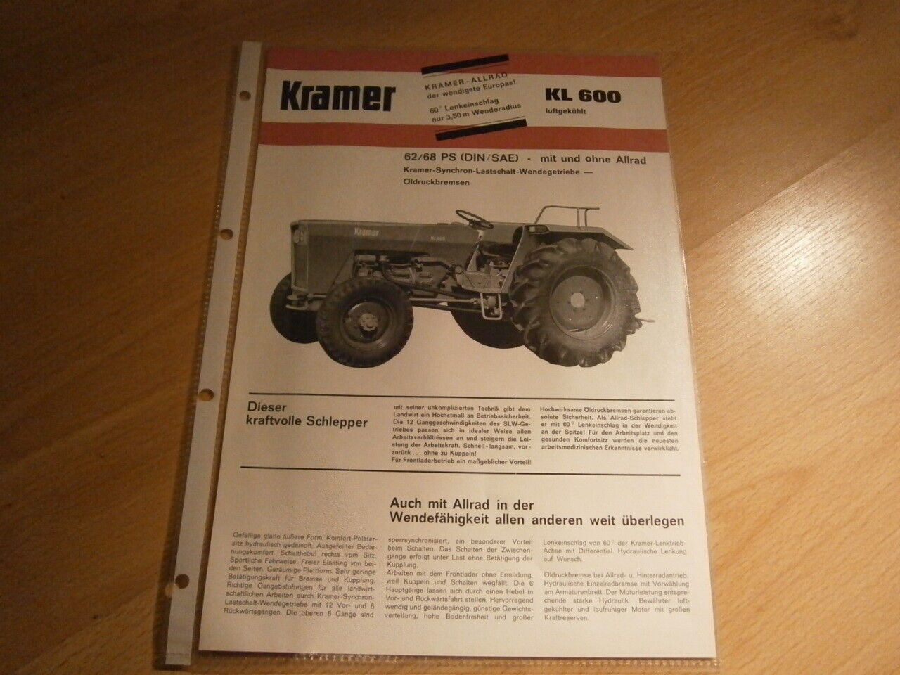 Traktormeter Kramer KL und 350//450 Export Traktor Schlepper  513