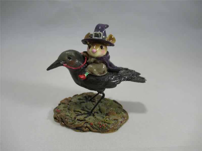 Wee Forest Folk The Raven Red-Eye - Halloween - in WFF Box