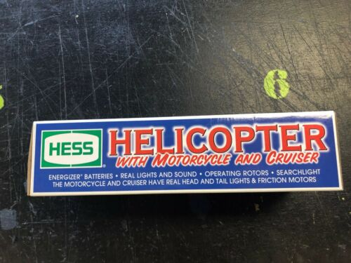 2001 HESS HELICOPTER WITH MOTORCYCLE AND CRUISER