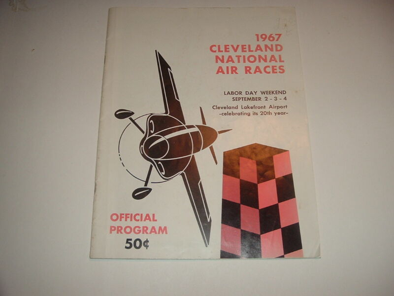 1967 National Air Races Cleveland Ohio Program