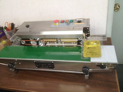 Dingye Usa Stocked Stainless Steel Continuous Horizontal Band Sealer Embosser