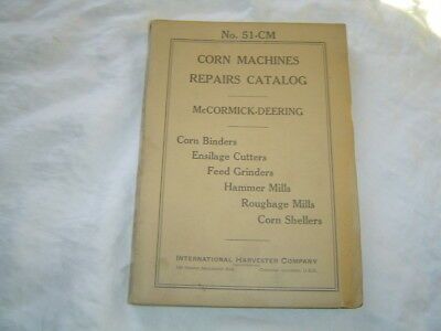 International Harvester Corn Binder Shellers Feed Grinder Mills Parts Catalog