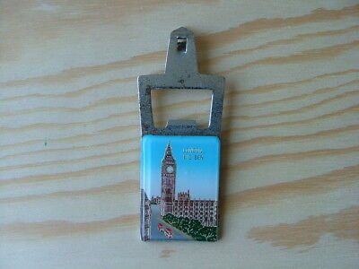 Vintage London Big Ben souvenir bottle opener Tin Piercer BH004